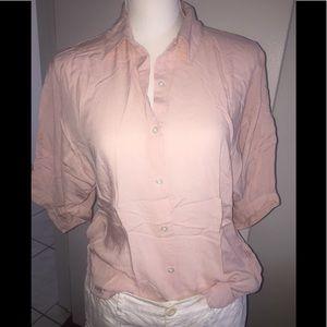 Express  pink balloon sleeve button down sm
